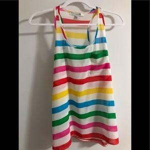 Rainbow colorful Flowy sheer top